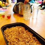 Rhubarb & Appel Crumble... Delicious!!