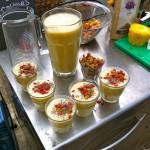 De heeeeele dag kregen we super food smoothies gemaakt door RosalieRuardy.com YUM!!!