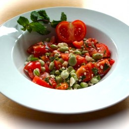 Fava Bean Salad with Fresh Mint