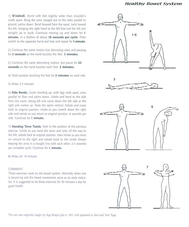 Healthy Bowel System Kundalini Yoga Kriya